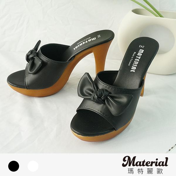 拖鞋 蝴蝶結高跟拖鞋 MA女鞋 T0767