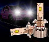 汽車led大燈燈泡超亮聚光9005激光車燈h4h1h7h11遠近光一體免改裝   麻吉鋪