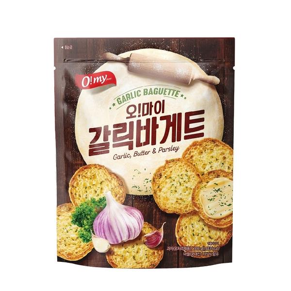 【O!my歐邁福】法式麵包餅乾-香蒜奶油口味300g(彭湃包) 大蒜麵包