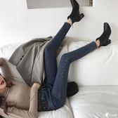 牛仔褲-秋季新款韩版chic复古修身显瘦铅笔裤女潮时尚百搭高腰九分牛仔裤-奇幻樂園
