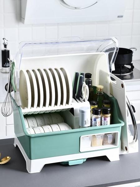 碗盤架 盤子碗置物架餐具收納碗柜瀝水碗架廚房碗架瀝水架碗碟收納盒帶蓋全館促銷