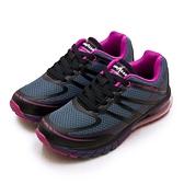 LIKA夢 GOODYEAR 固特異專業緩震氣墊慢跑鞋 FLYER W2 夢想飛行者系列 藍黑紫 82766 女