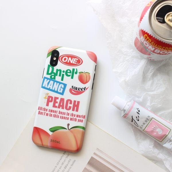 iPhoneX 可掛繩 夏日水蜜桃罐頭 矽膠軟殼 蘋果iPhone8X/iPhone7/6Plus 手機殼