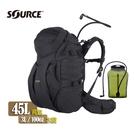 Source DoubleD軍用水袋背包 4010790145 黑色 /城市綠洲(以色列原裝進口)
