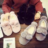 冬季保暖情侶男女室內居家卡通防滑包跟加厚底毛毛可愛月子棉拖鞋 年終尾牙特惠