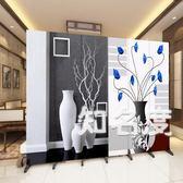 屏風 屏風裝飾隔斷牆客廳酒店辦公室現代簡約折疊中式移動折屏實木布藝T 6色