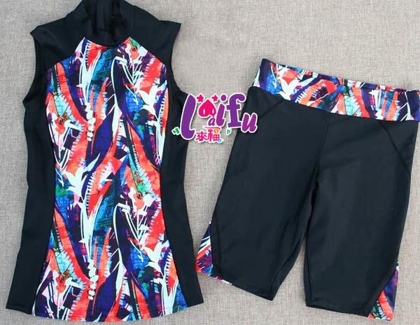 ★依芝鎂★G258泳衣五分褲泳衣削肩游泳衣泳裝二件式比基尼加大泳衣正品,售價980元