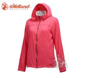 丹大戶外用品 【荒野Wildland】女彈性透氣抗UV輕薄外套 0A71905-09 桃紅色
