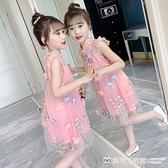 女童洋裝 女童連身裙2021新款夏裝兒童旗袍夏季裙子洋氣女孩中國風公主漢服 美物生活館