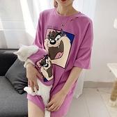 狗狗衣服小型犬泰迪中長款加菲貓短袖T恤寵物親子裝主人潮牌貓咪 pinkq時尚女裝