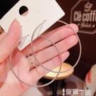耳環 韓國東大門大圓環耳圈2021新款潮個性夸張顯臉瘦的氣質銀針耳環女 智慧e家 新品