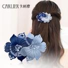 頭花髮夾髮飾水鑽頭飾彈簧夾成人頂夾淑女夾子蝴蝶結髮卡飾品