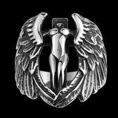 鈦鋼戒指 天使之翼-復古霸氣歐美風格生日情人節禮物男飾品73le172[時尚巴黎]