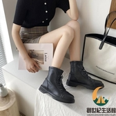馬丁女鞋秋季加絨瘦瘦短靴英倫風冬單靴【創世紀生活館】