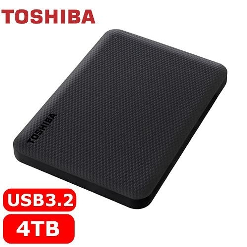 TOSHIBA Canvio Advance V10 4TB 外接式硬碟 黑