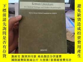 二手書博民逛書店Korean罕見Literature:Its Classical