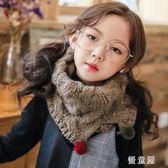 兒童秋冬季圍巾男童女童韓版針織毛線保暖寶寶套頭圍脖毛球加厚潮 QG9821『優童屋』
