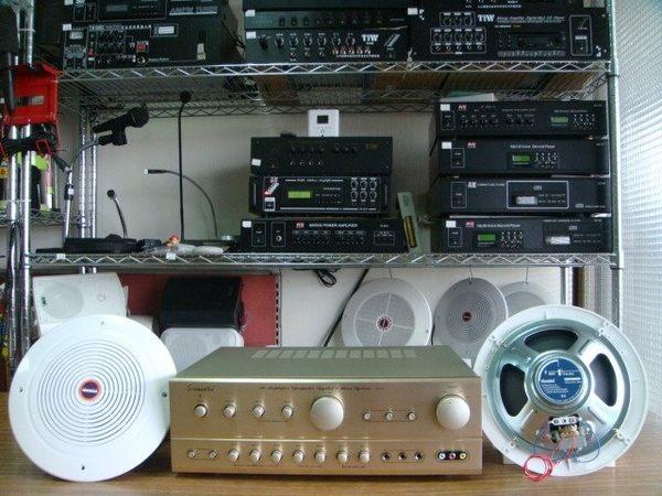 VITECH 廣播綜合擴主機 卡拉OK擴大機 80W*80W含高功率崁入式20w喇叭組合4