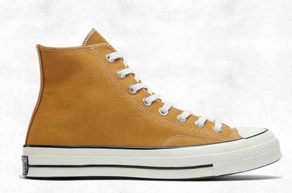 CONVERSE-Chuck 70 男女款咖啡褐色高筒帆布鞋-NO.165032C