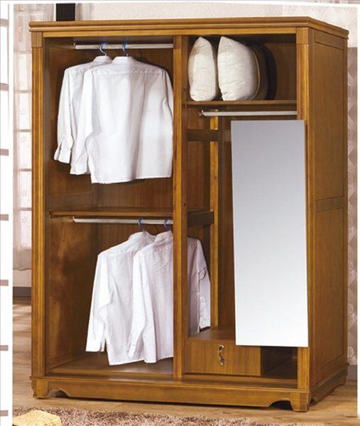 【新北大】✵S106-2 維也納樟木5X7尺衣櫥(附鏡)(17購)