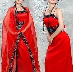 仙女古裝/唐朝服飾/漢服/紅色影樓
