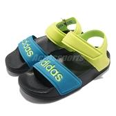adidas 涼鞋 Adilette Sandal K 黃 藍 魔鬼氈 童鞋 中童鞋 愛迪達 【ACS】 FY8850