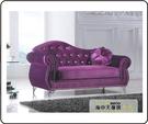 {{ 海中天休閒傢俱廣場 }} G-35 摩登時尚 貴妃椅系列 344-7 紫色貴妃椅(左)