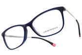 EMPORIO ARMANI 光學眼鏡 EA3119F 5607 (深藍-銀) 歐式知性美學款 # 金橘眼鏡