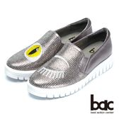 ★2018春夏新品★【bac】時尚穿搭時尚圖騰水鑽平底包鞋(槍色)