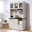【森可家居】艾達石面4尺餐櫃 8HY410-06 高廚房收納櫃 MIT台灣製造