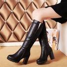 現貨 高跟高筒靴長靴女靴基本款百搭女鞋....