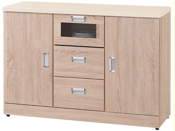 櫥櫃 餐櫃 FB-312-2 韋弗利原橡色4尺碗盤下座【大眾家居舘】