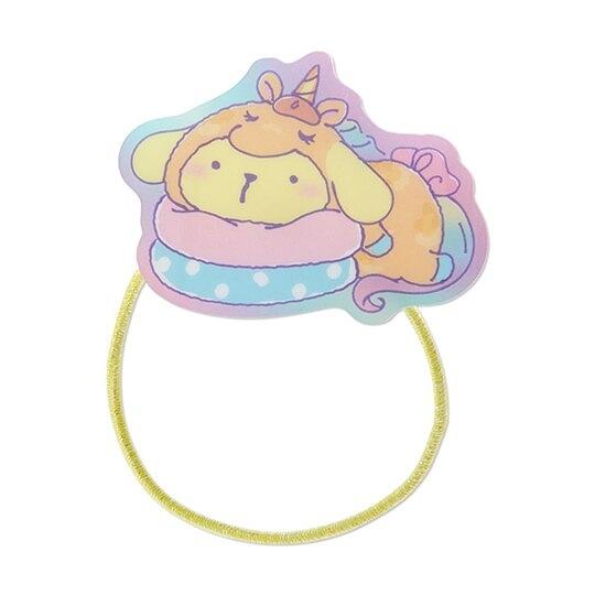 小禮堂 布丁狗 造型壓克力彈力髮圈 塑膠髮圈 造型髮圈 手環 (黃 糖果獨角獸) 4550337-83985