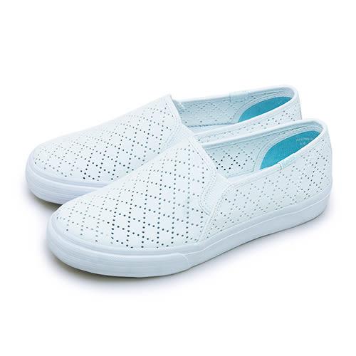 LIKA夢 Keds 時尚韓風經典款帆布鞋 DOUBLE DECKER 系列 白 132154 女