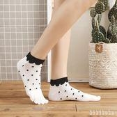 中大尺碼五指襪可愛女短襪棉質大圓點分日系船襪吸汗透氣女運動襪薄 XY7776【KIKIKOKO】
