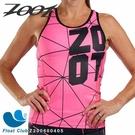 【ZOOT】女款 F20 NEON RACING 競速系列 美背式三鐵上衣 艷亮桃 Z200600405 原價3500元