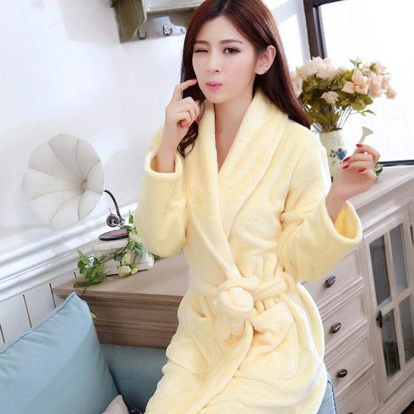 純色睡袍可愛家居服女士睡袍全棉睡袍 滿598元立享89折