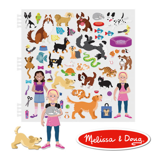 美國瑪莉莎 Melissa & Doug 泡泡貼紙簿 寵物世界