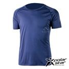 PolarStar 男 排汗運動短袖圓領衫『藍紫』P20127 排汗衣 排汗衫 吸濕快乾.吸濕.排汗.透氣.快乾.輕量