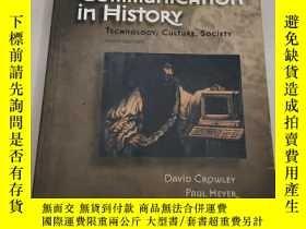 二手書博民逛書店Communication罕見in History: Technology, Culture, Society【英