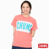 CHUMS 日本 女 大LOGO 短袖T恤 粉紅 CH111101R018