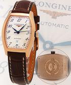 LONGINES 浪琴 18K典藏玫瑰金機械女錶 L21428732