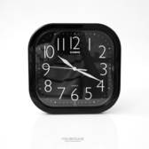掛鐘 CASIO黑色方型數字時鐘 柒彩年代【NVC16】原廠公司貨