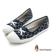 Hush Puppies 甜心蕾絲咖啡紗娃娃鞋-藏青
