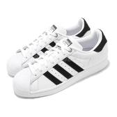 adidas 休閒鞋 Superstar W 白 黑 女鞋 特殊材質設計 運動鞋 貝殼頭 【ACS】 H69025