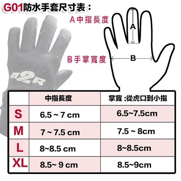 【M2R G01 手套 防水 機車 手套 潛水布 手套 保暖 手套】可自取