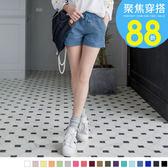 OB嚴選《BA0964-》嚴選百搭多色系休閒抽繩短褲‧18色--適 XS~XL