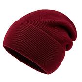 羊毛毛帽-護耳純色百搭秋冬男針織帽9色73wj2【時尚巴黎】