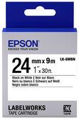 [哈GAME族]免運費 可刷卡 EPSON LK-6WBN 標籤機色帶 標籤帶 白底黑字 24mm
