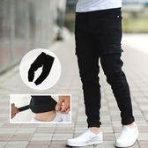 長褲 素面多口袋可調整褲腳縮口褲長褲【NB0236J】
